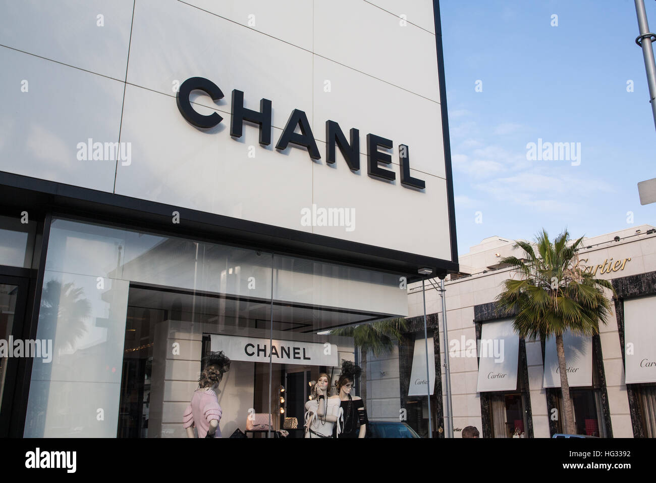 Chanel Store On Rodeo Drive In Beverly HillsLos Stock