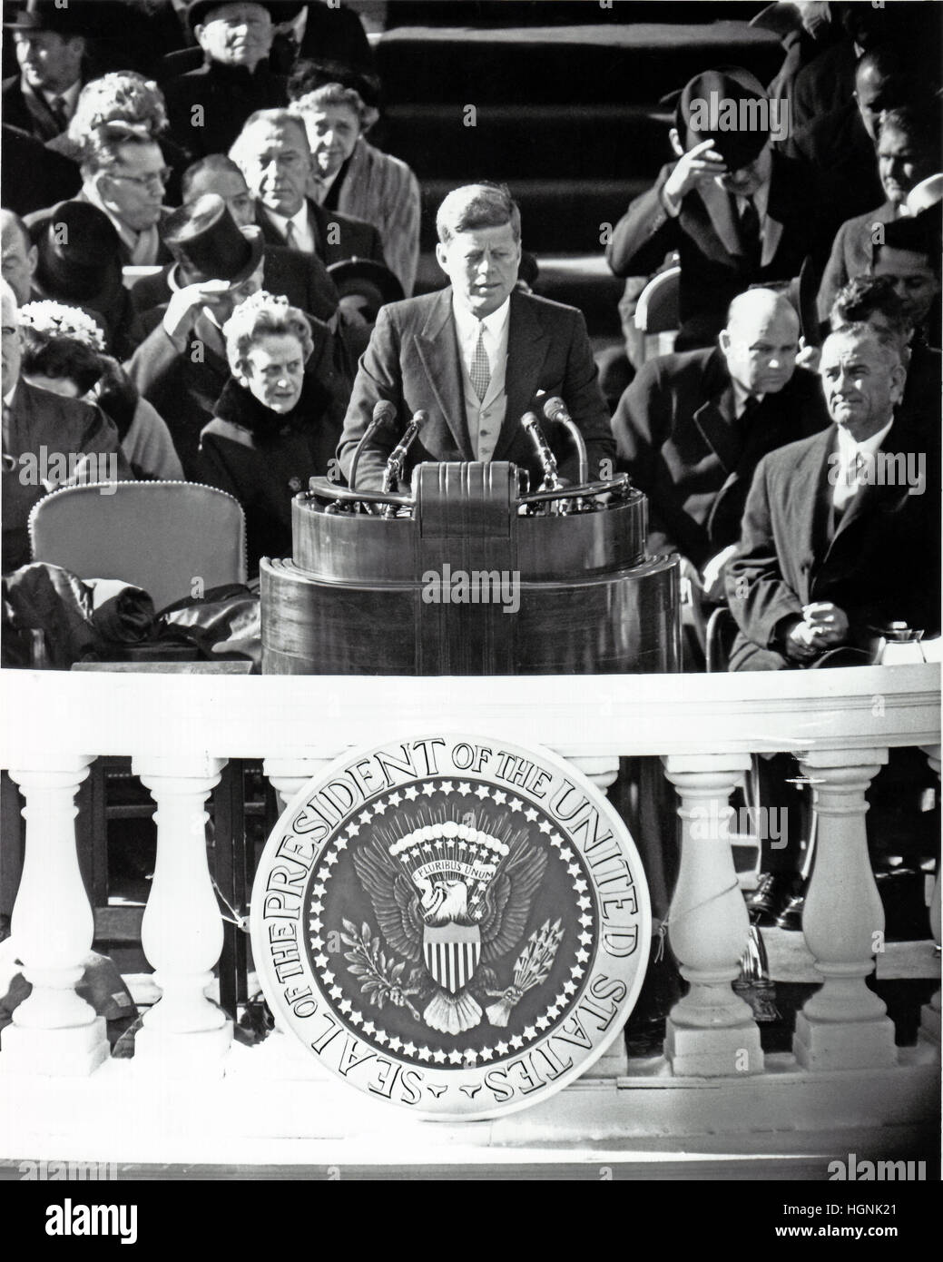 John Kennedy Inauguration High Resolution Stock