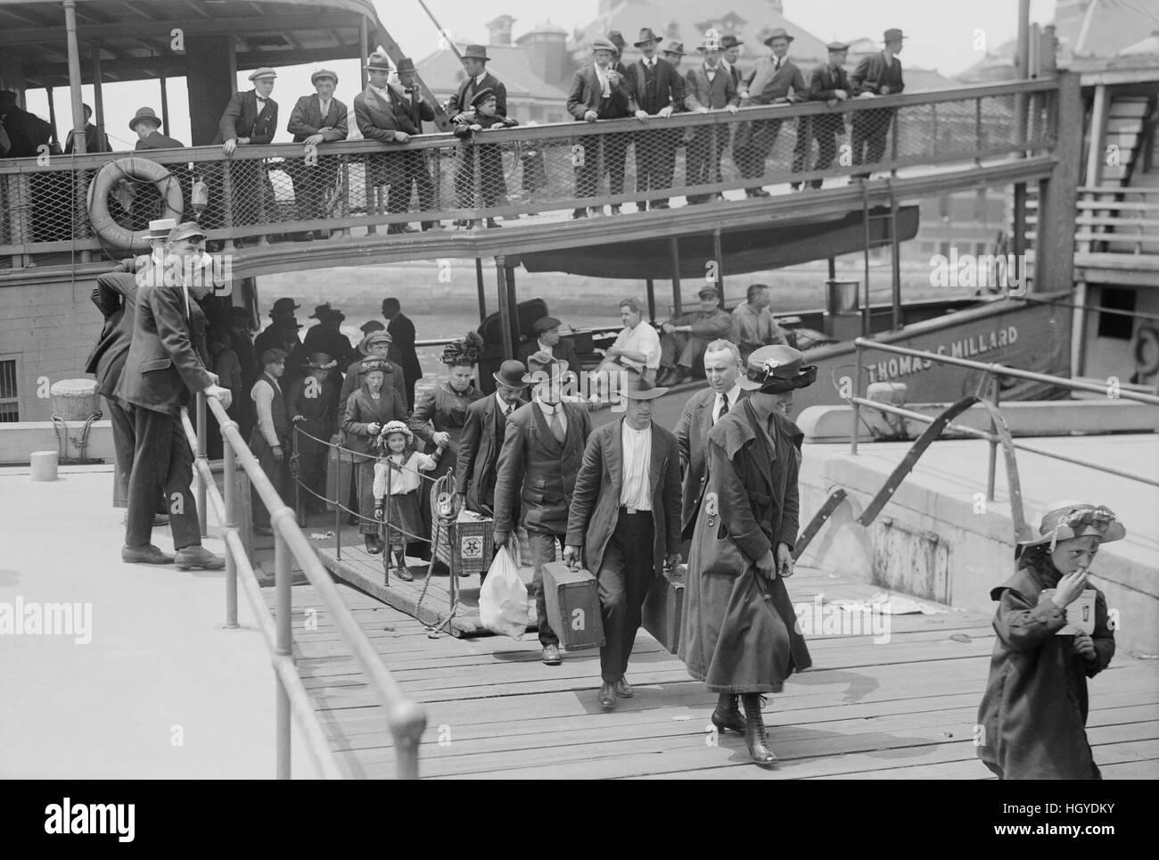 Arrival Of Immigrants Ellis Island New York City New