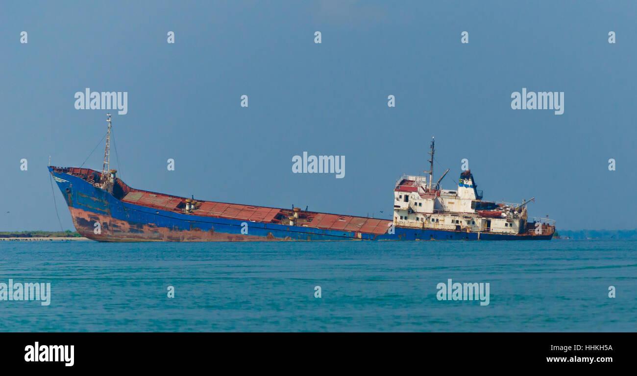 Sinking Ship Stock Photo