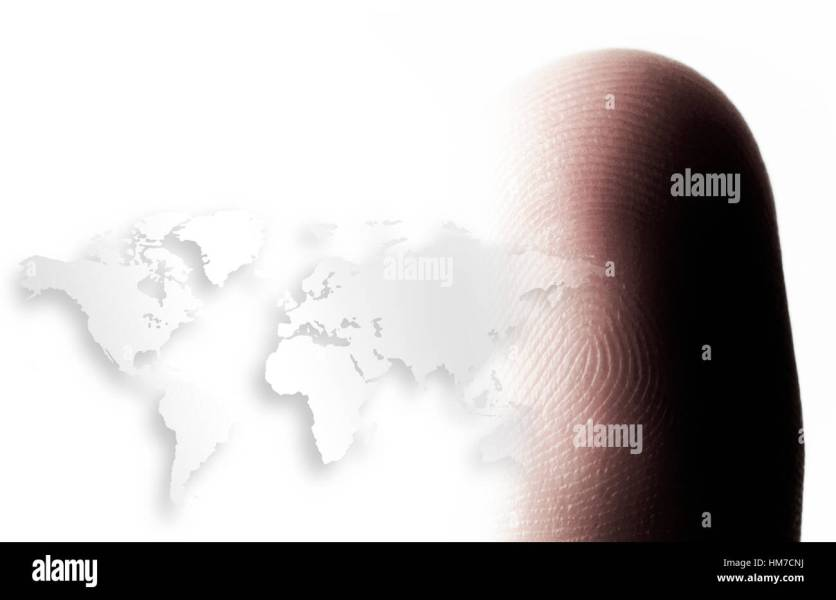 World map outline and human finger Stock Photo  132929374   Alamy World map outline and human finger