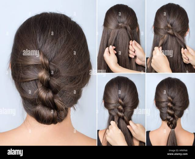 simple twisted hairstyle tutorial. easy hairstyle for long