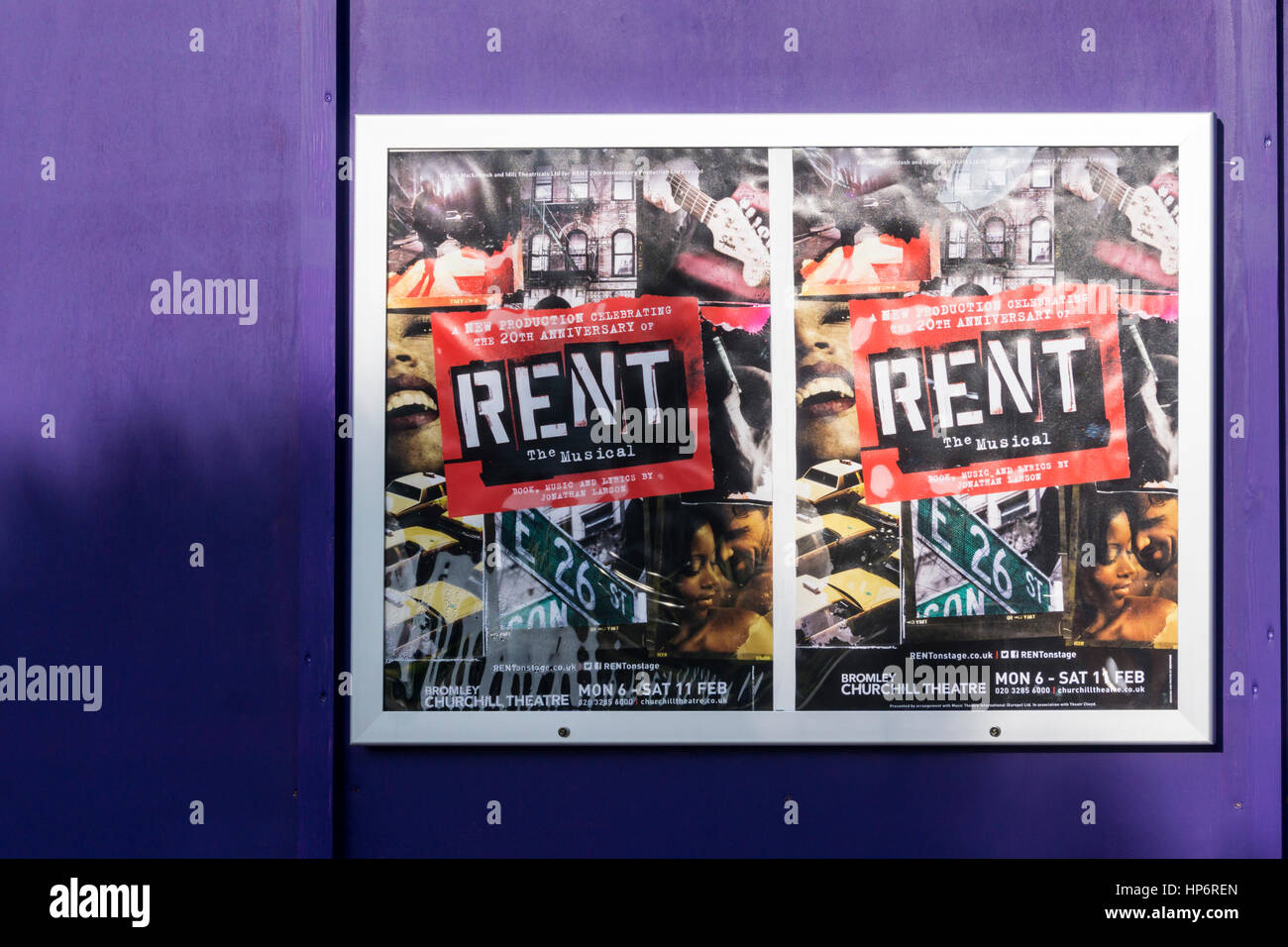 https www alamy com stock photo posters for the 20th anniversary production of rent the musical by 134145165 html