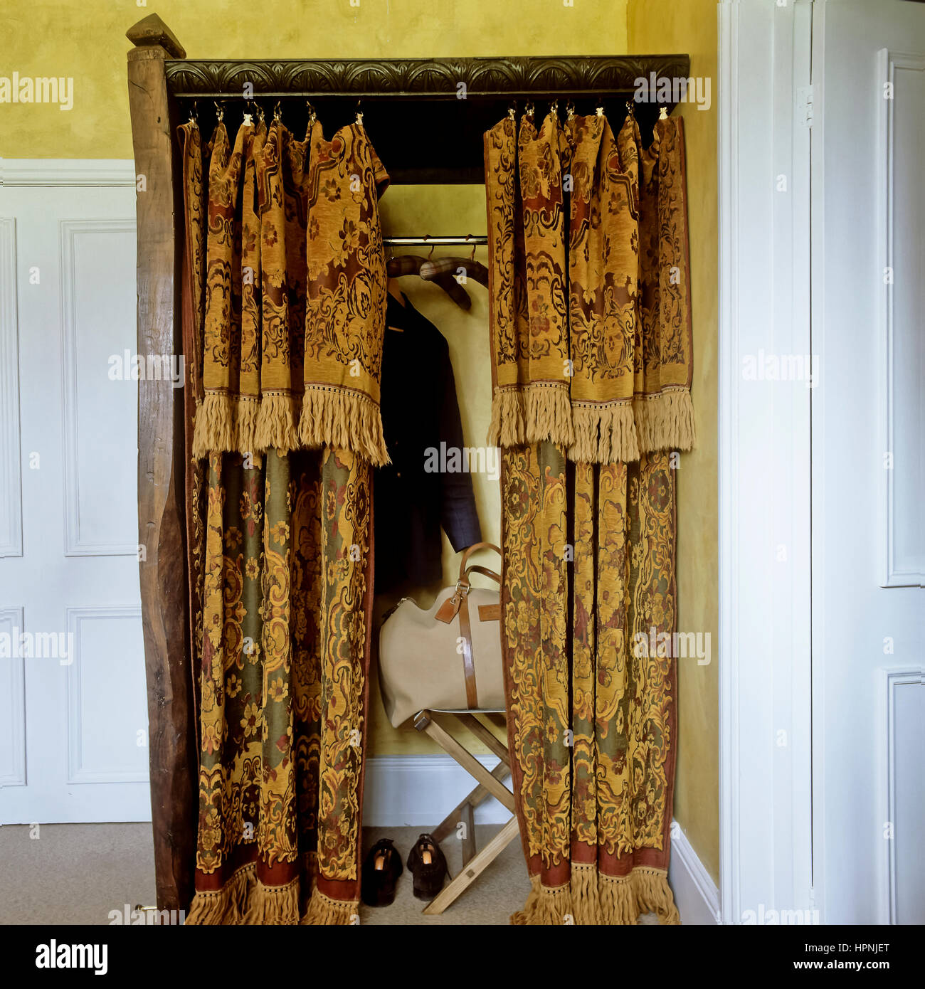 https www alamy com stock photo a closet with curtains 134470528 html