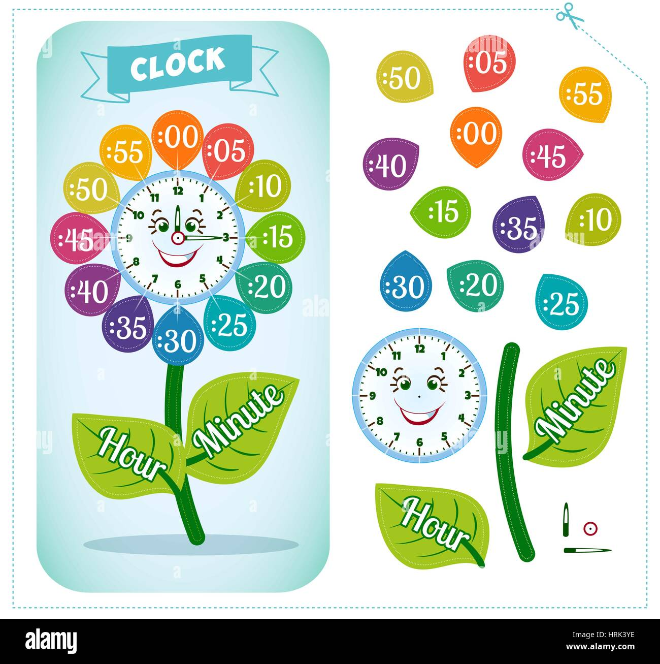 Clock Worksheet To Teach Time