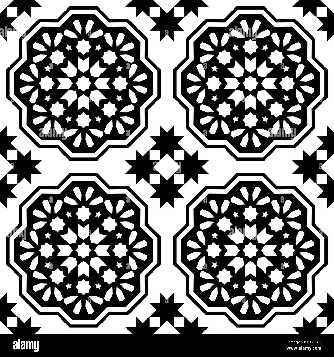 https www alamy com stock photo geometric seamless pattern moroccan tiles design seamless black tile 135827512 html