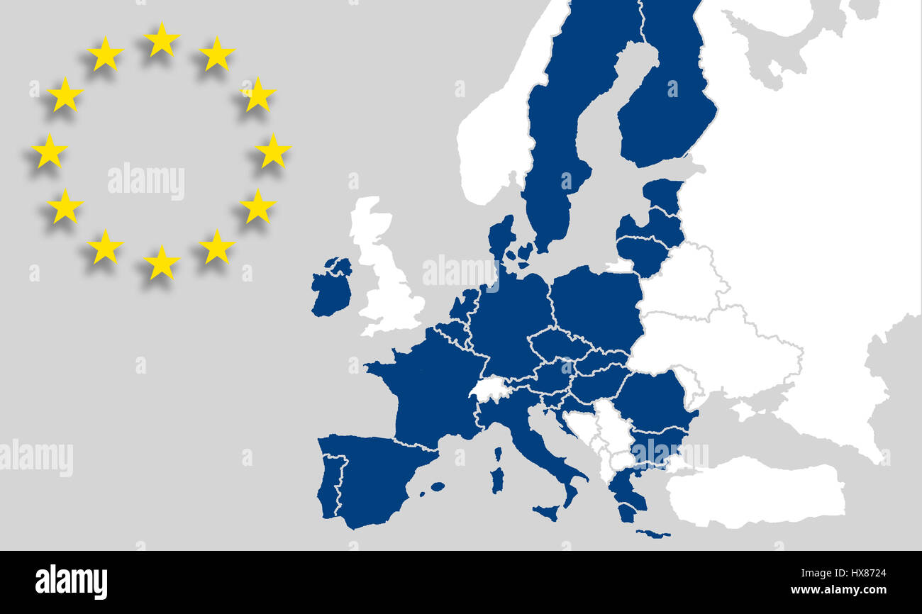 map european union countries     eu map european union countries and borders eu sign stars brexit hx8724