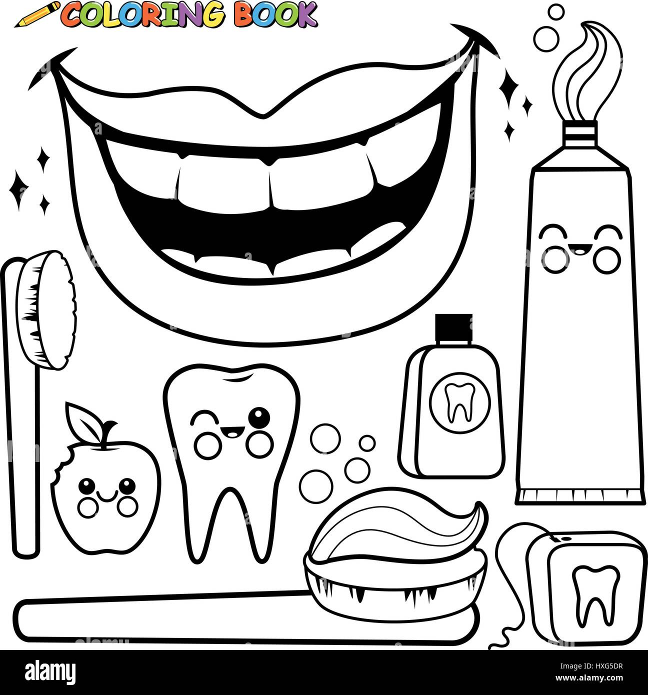 Dental Hygiene Drawing Stock Photos Amp Dental Hygiene Drawing Stock Images