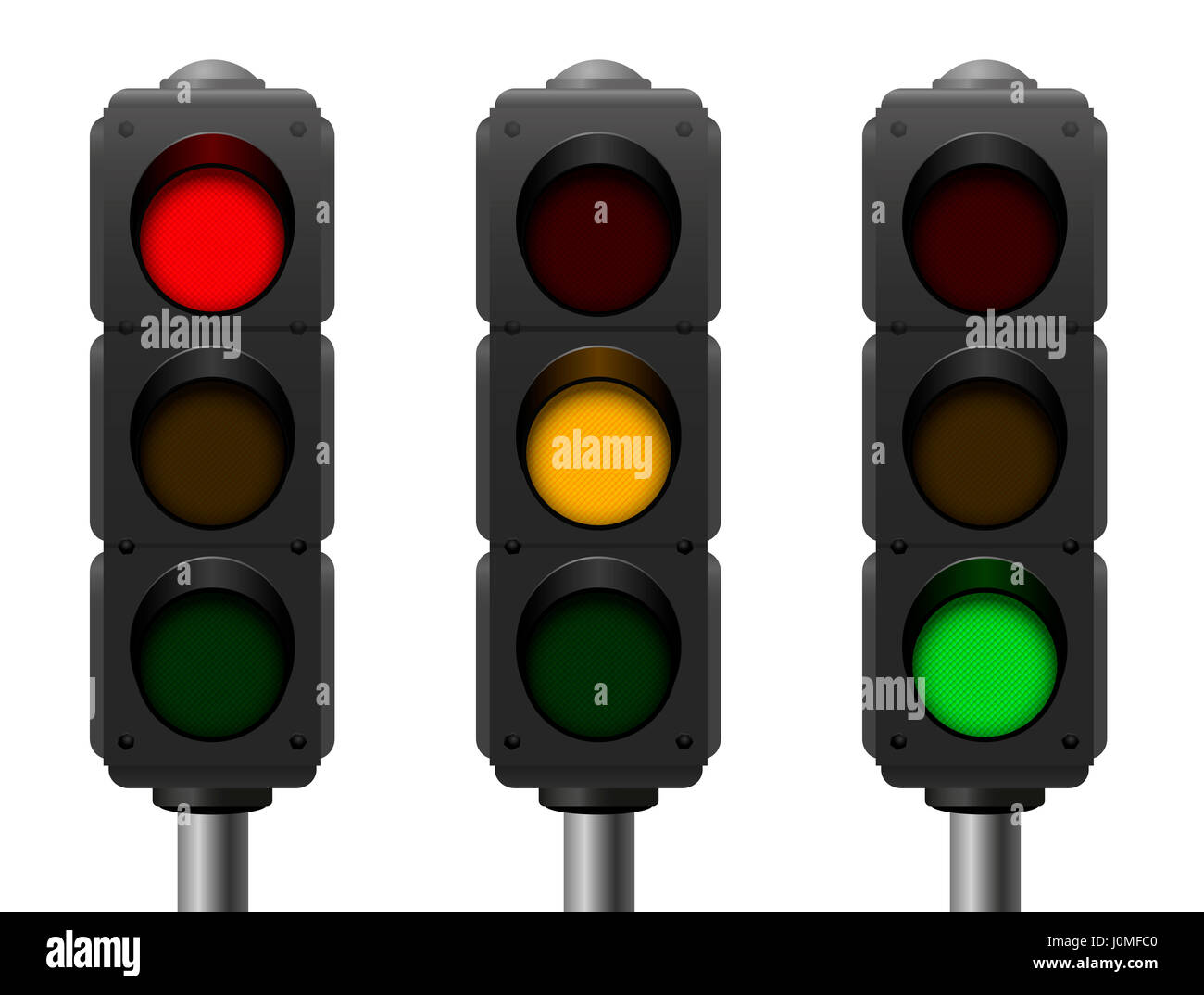 Traffic Lights With Three Different Signals
