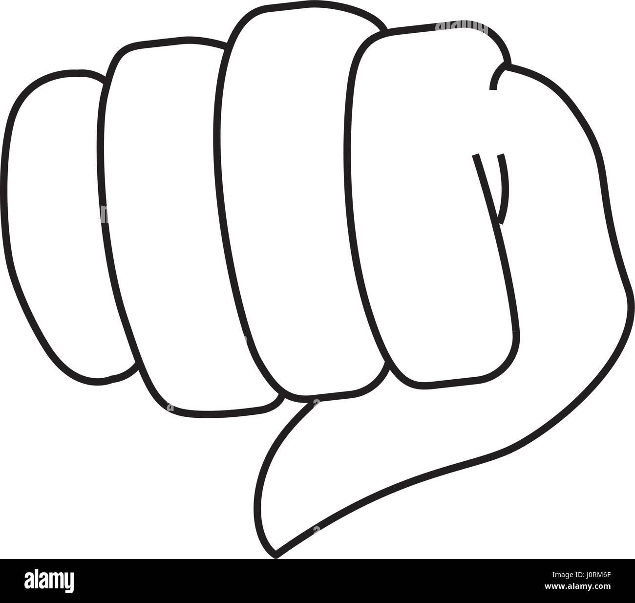 Fist hand symbol stock image