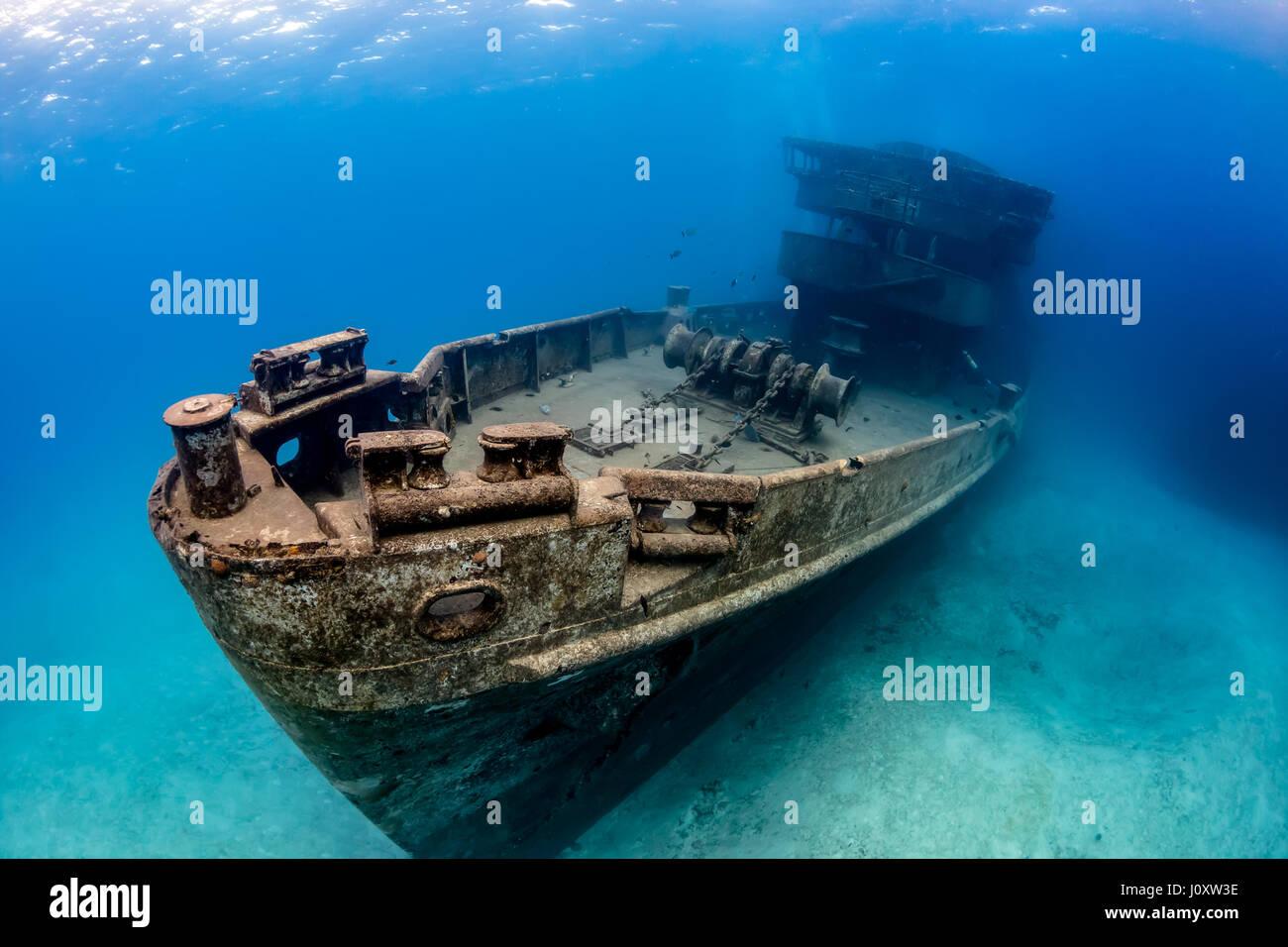 Underwater Wreck Of The USS Kittiwake Stock Photo