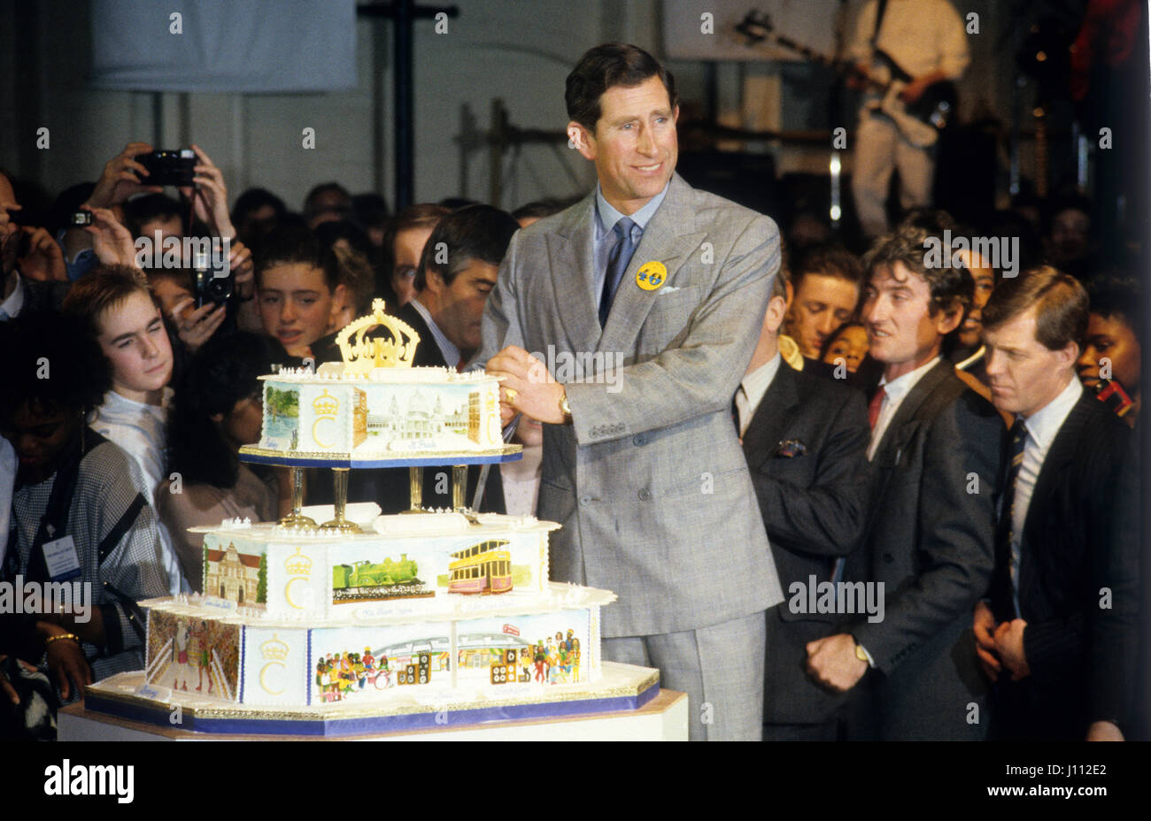 Prince Charles 40th Birthday In Birmingham To Launch The Princes Youth Business Trust In 1988 Stock Photo Alamy