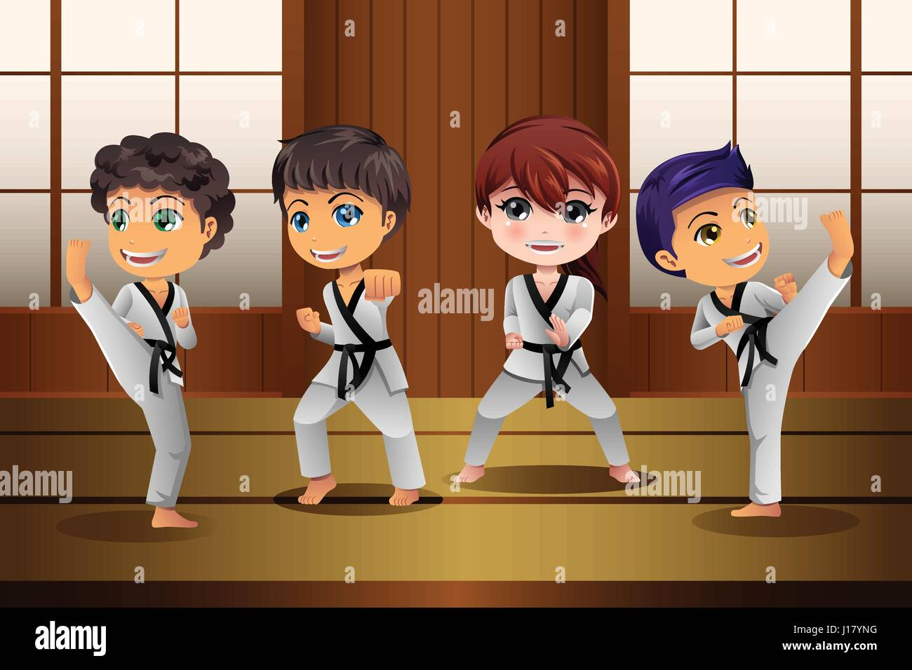 Karate Kid Stock Vector Images