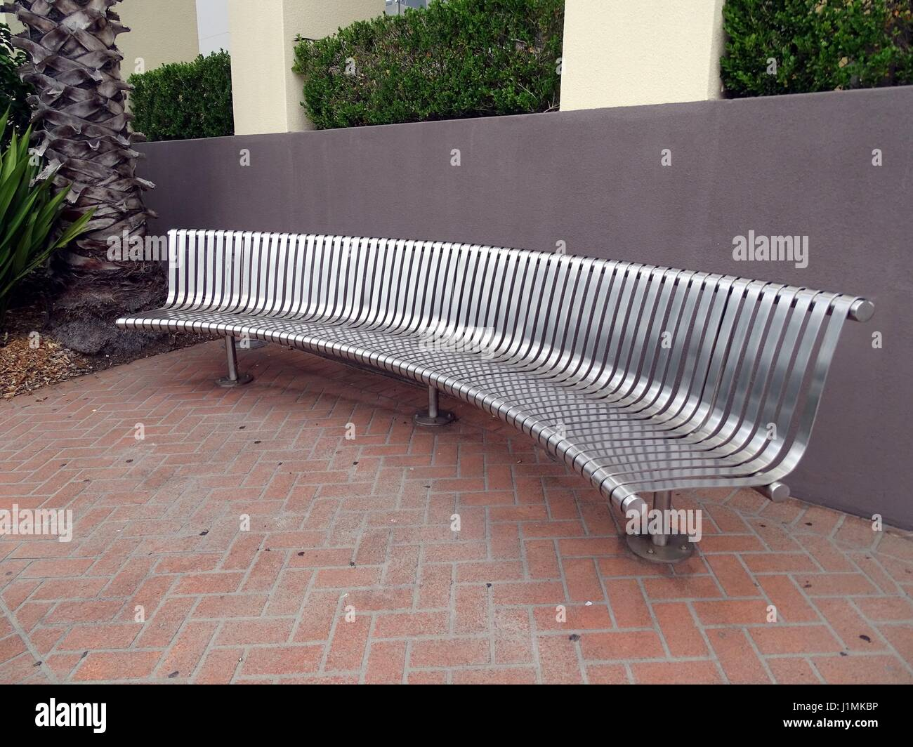 A Curved Bench Seat Stock Photo Alamy