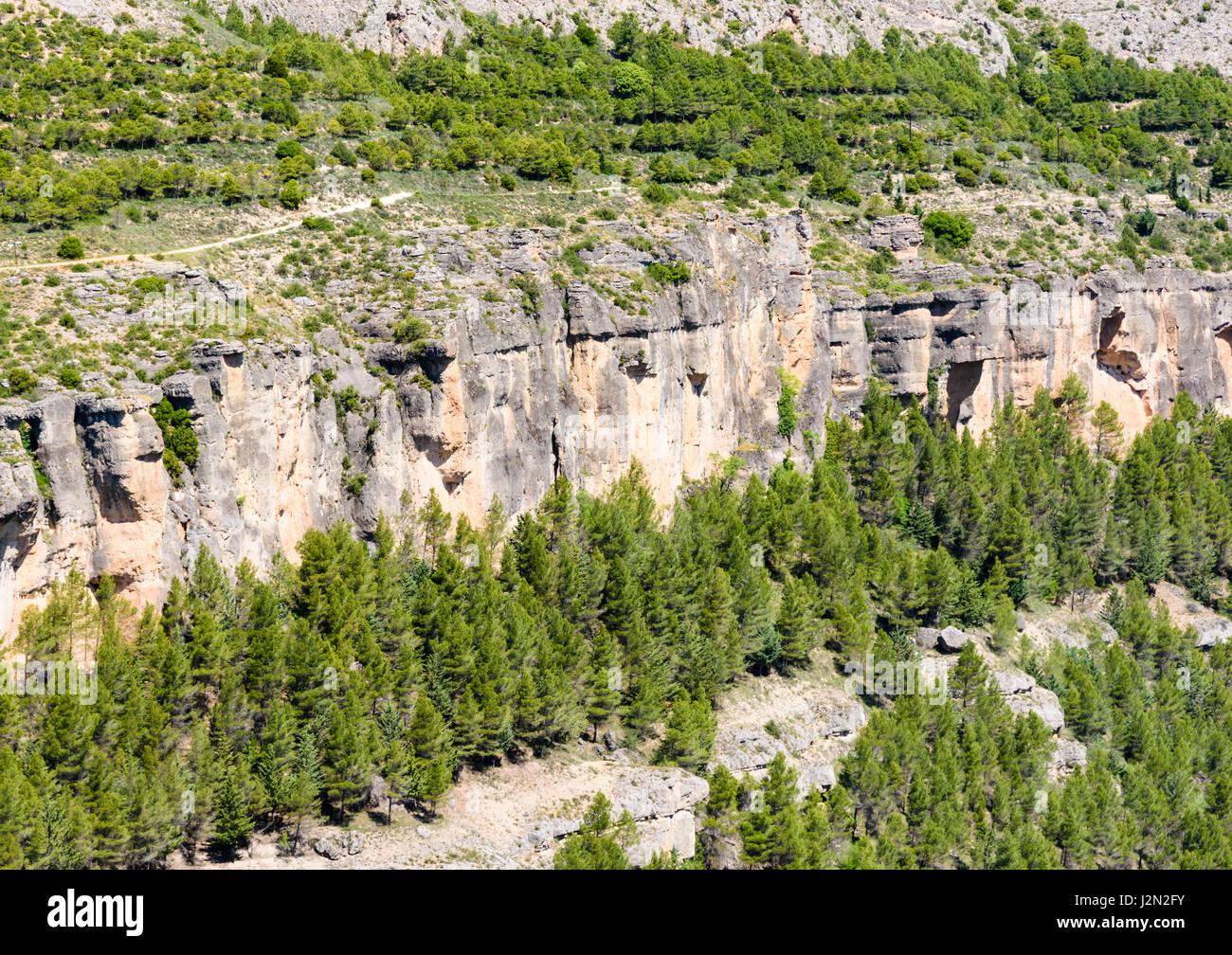 Karst Topography Forming The Jucar Gorge Castilla La