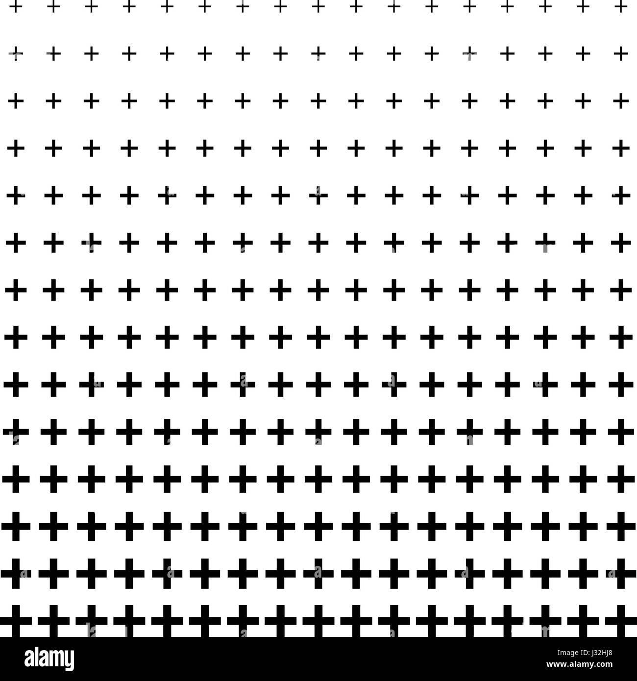 Plus Shape Halftone Pattern Background Stock Vector Art