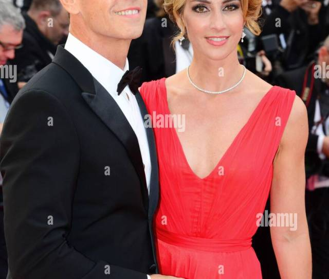 Rocco Siffredi With His Wife Rosa Caracciolo Arriving On The Red Carpet For The Film Money Monster 69th Cannes Film Festival May 12 2016