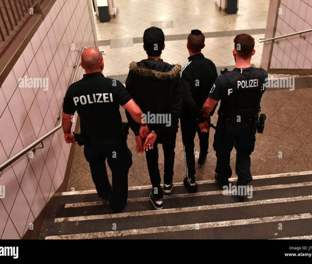 Police Escort Suspected Pickpockets In The Borough Of Kreuzberg In Berlin Germany  A Special Police Group Has Been Patrolling Kottbusser Tor