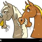 Horse Illustration Farm Funny Cartoon Old Young Younger Comics Laugh Stock Photo Alamy