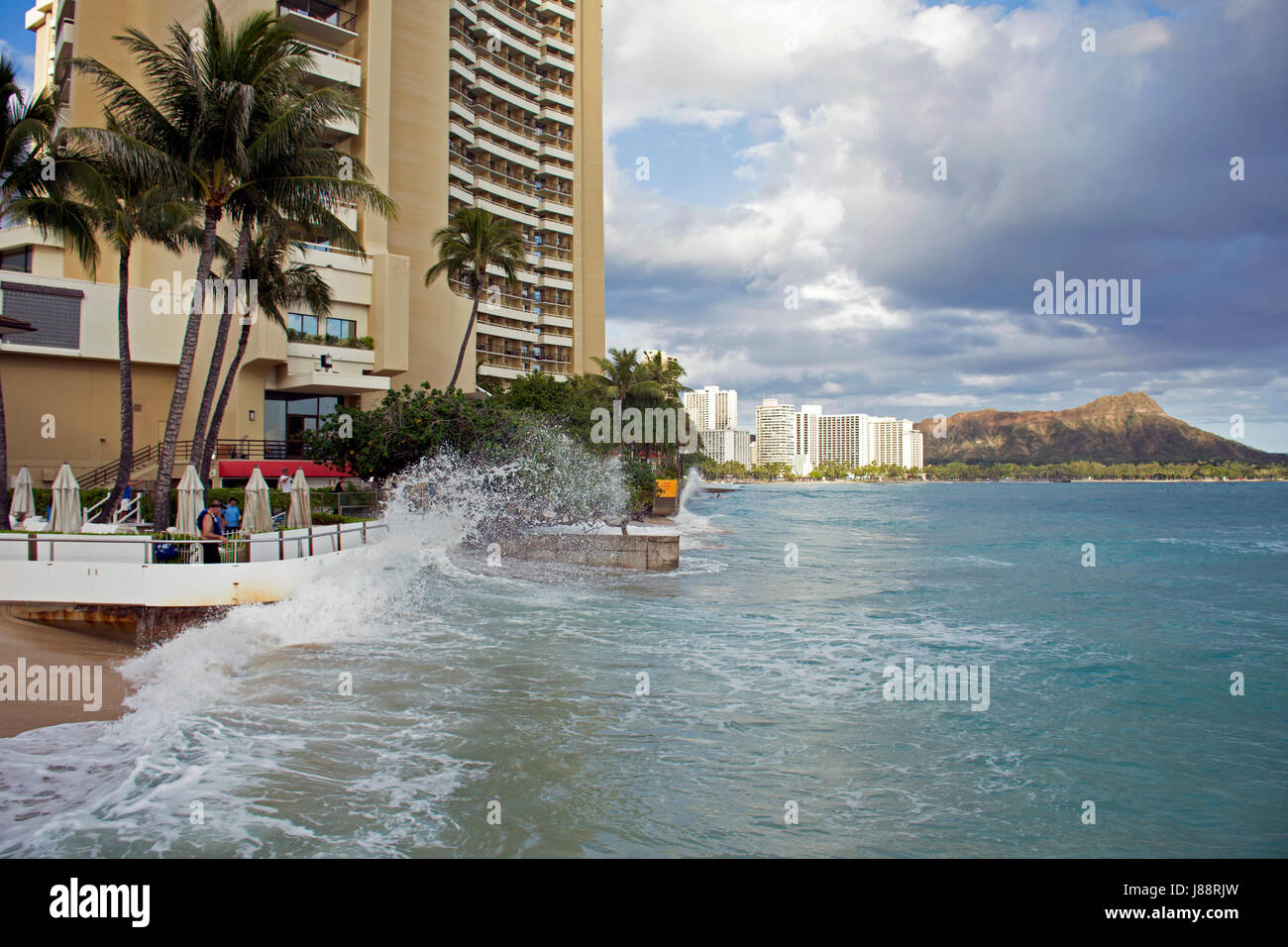 Record High Tides Or King Tides In Waikiki Beach In May