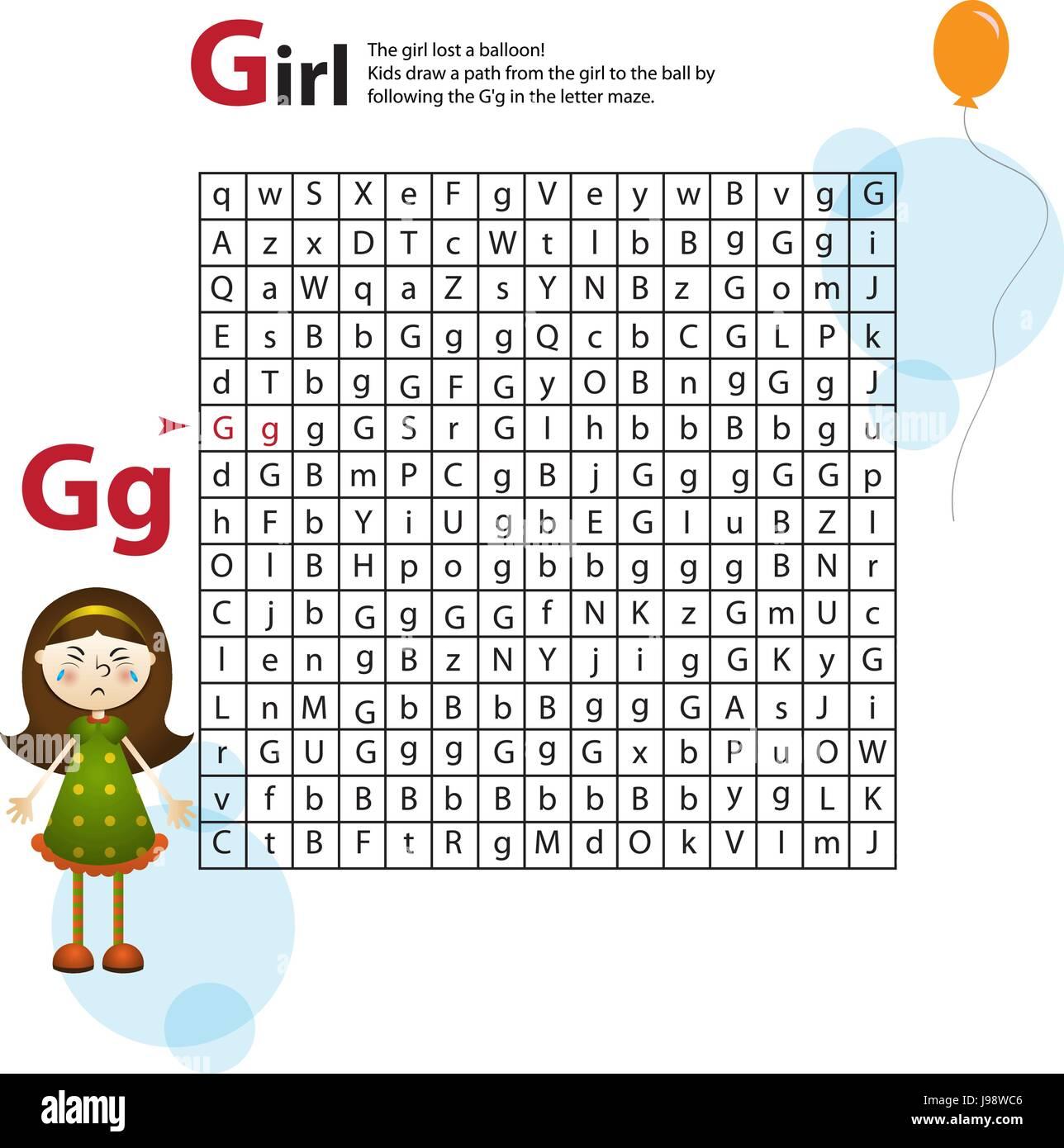 Education Cartoon Alphabet Letters Kids Stock Photos