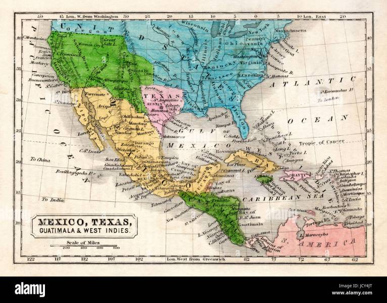 1845 Boynton Map of the Republic of Texas  Mexico  Guatemala  West     1845 Boynton Map of the Republic of Texas  Mexico  Guatemala  West Indies   Upper California and the United States