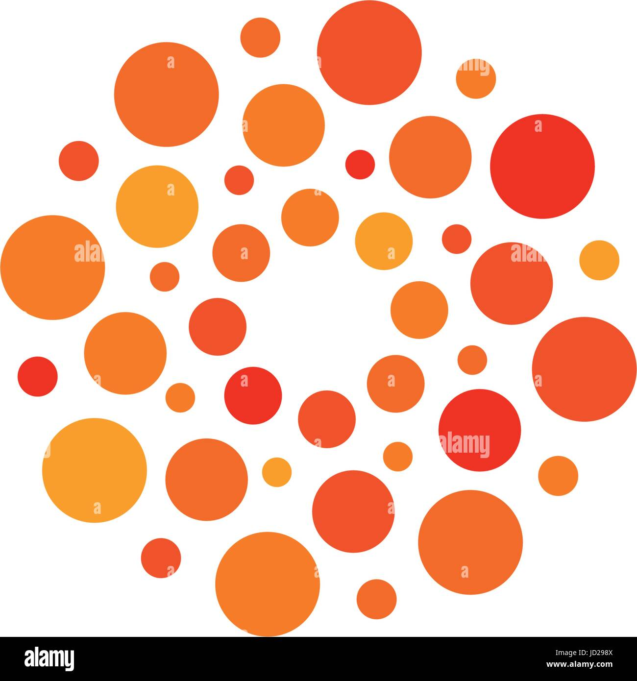 Isolated Abstract Round Shape Orange And Red Color Logo