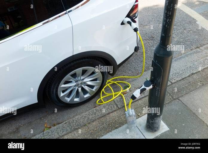 an electric car charger conversionubitricity: smart cable on a