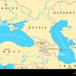 Black Sea And Caspian Sea Region Political Map With Capitals Stock Photo Alamy