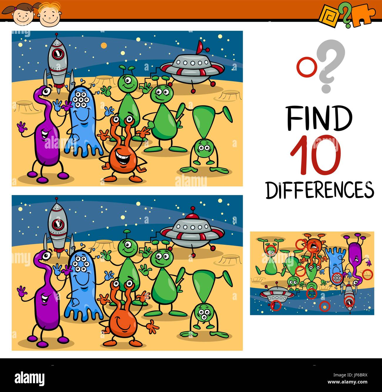 Education Illustration Puzzle Find Cartoon