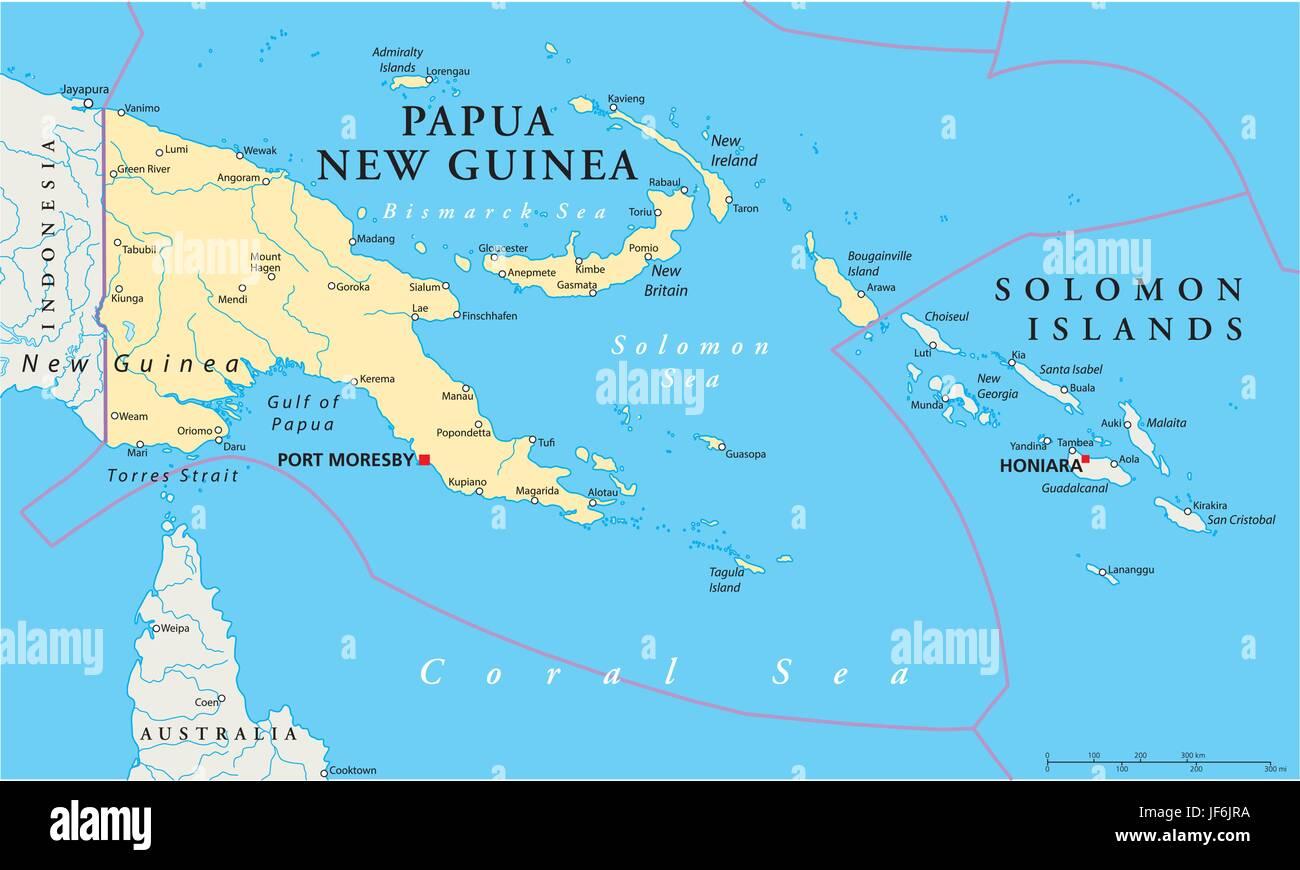 Pacific Salt Water Sea Ocean Water Guinea Map Atlas Map Of Stock Vector Image Art Alamy
