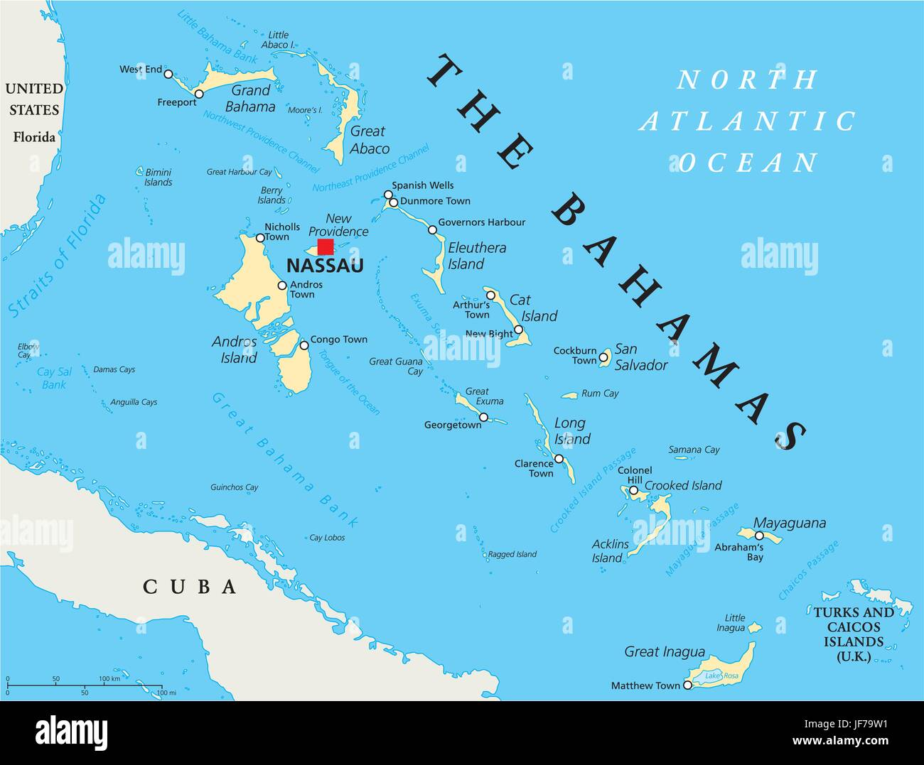 Cruise Destination Island Bahamas Map Atlas Map Of