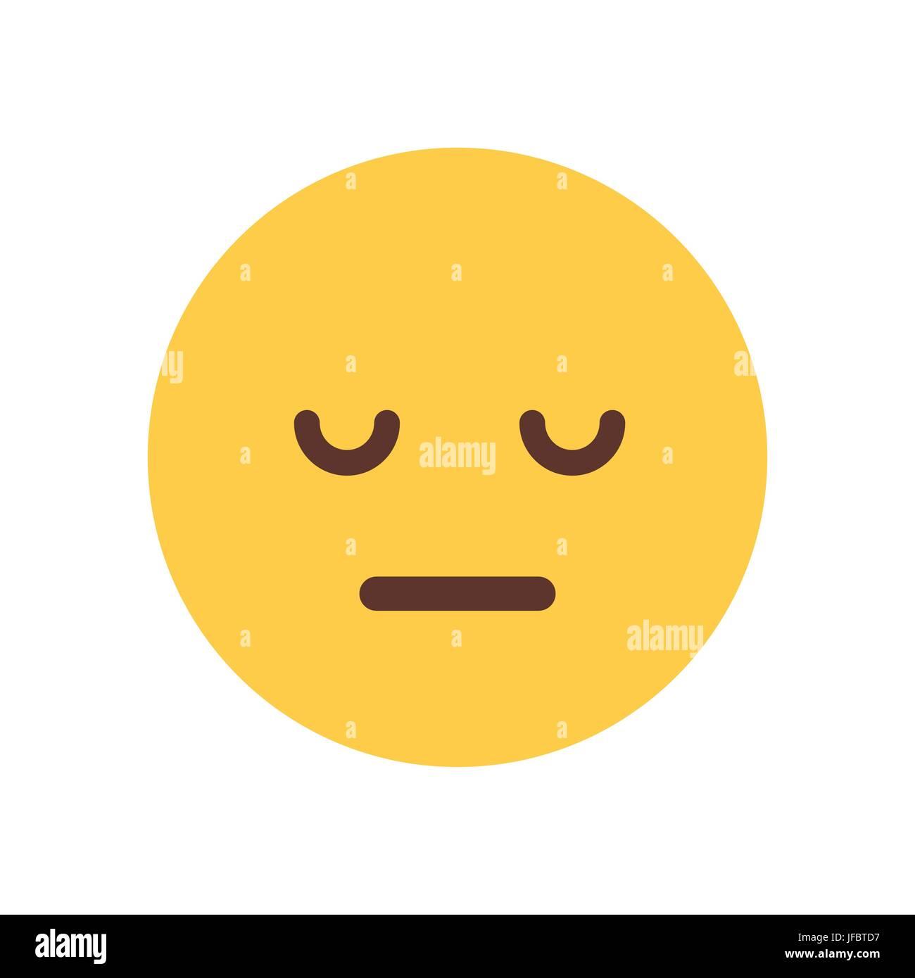Yellow Cartoon Face Sad Upset Emoji People Emotion Icon Stock Vector Art Amp Illustration Vector
