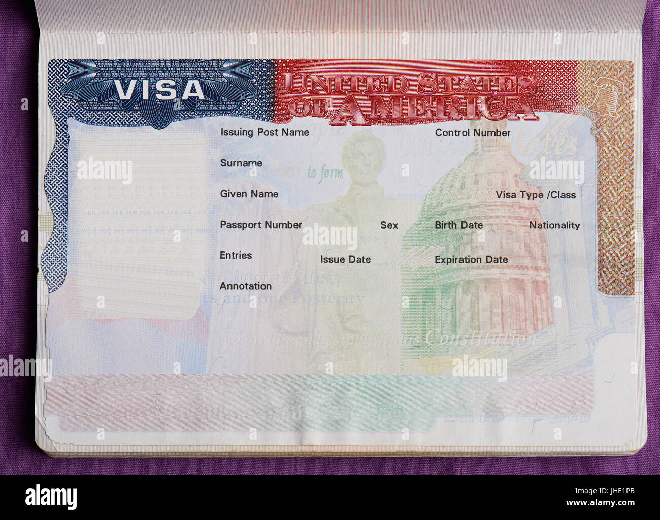 Passport Page Blank Stock Photos Amp Passport Page Blank