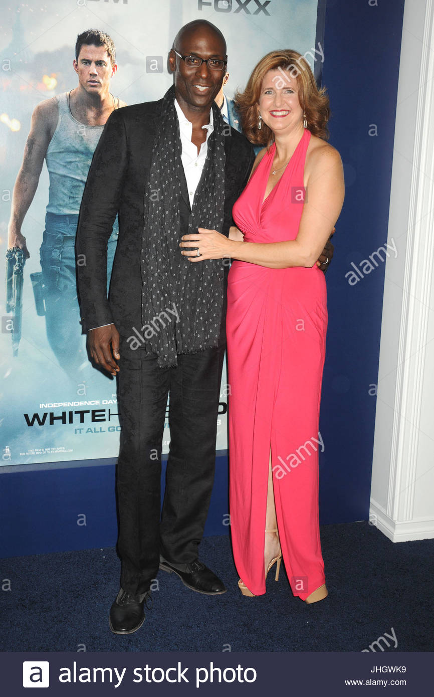 Lance Reddick and Stephanie Reddick  The cast and their celebrity     The cast and their celebrity guests arrive on the red carpet in designer  fashion at the New York Premiere of the new film  White House Down  held