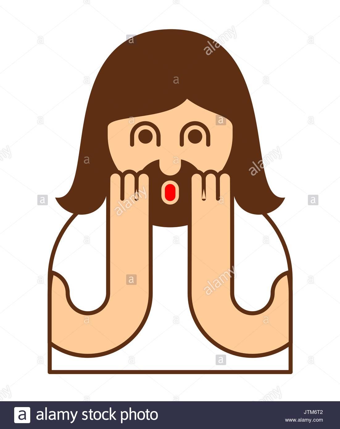 Oh My God Jesus Emotion Omg Christos Emoji Exclamation