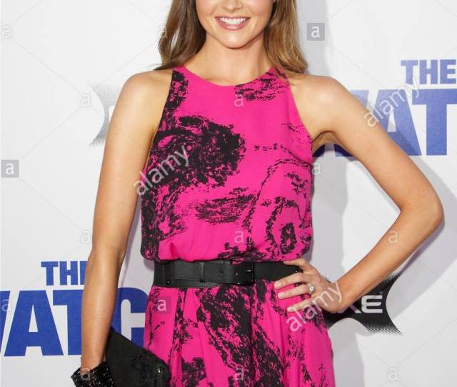 Valerie Azlynn More Celebrities At The Premiere Of The Watch Held At Graumans Theater In Los Angeles California