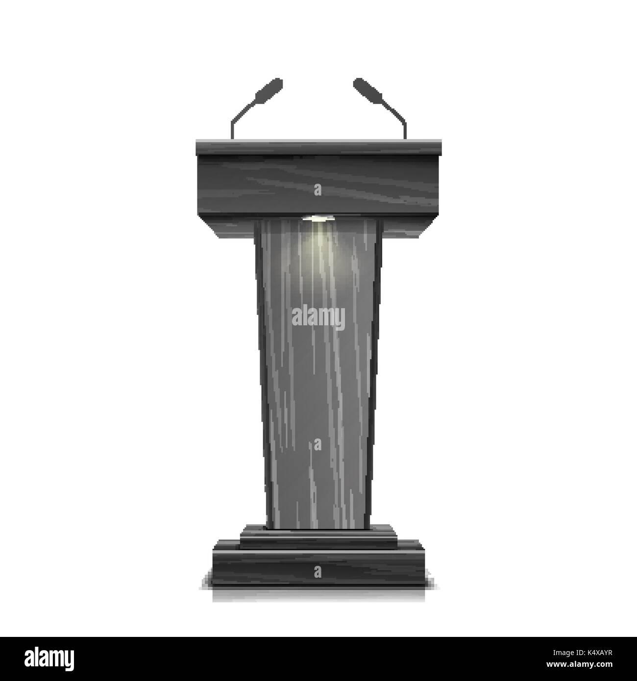 Speaker Podium Tribune Rostrum Stand Stock Photos