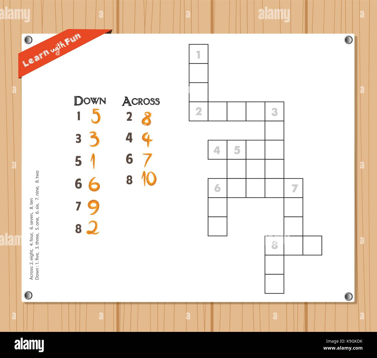 Crossword Puzzle Stock Vector Images