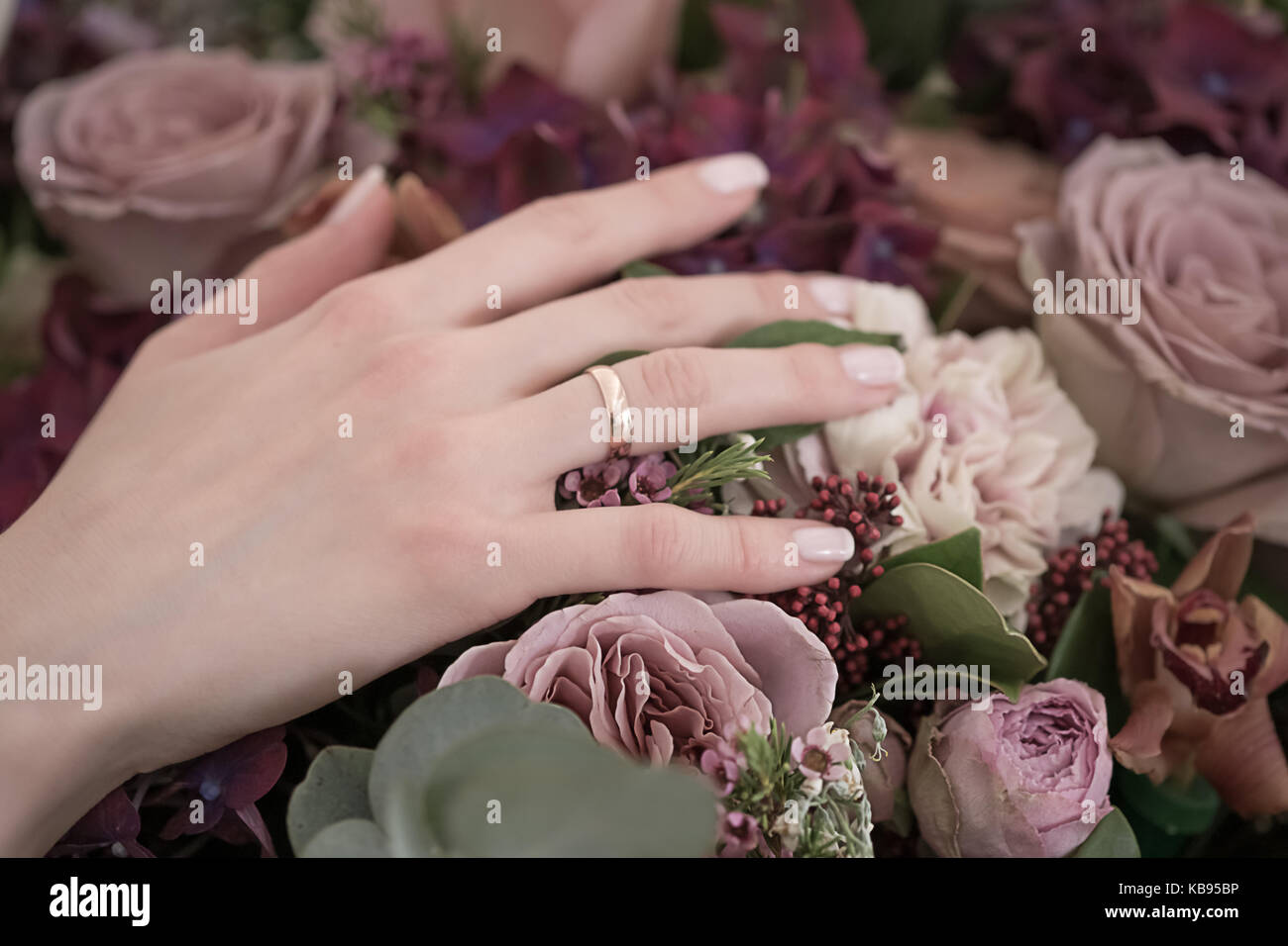 Bride Hand Flowers Stock Photos Bride Hand Flowers Stock Images