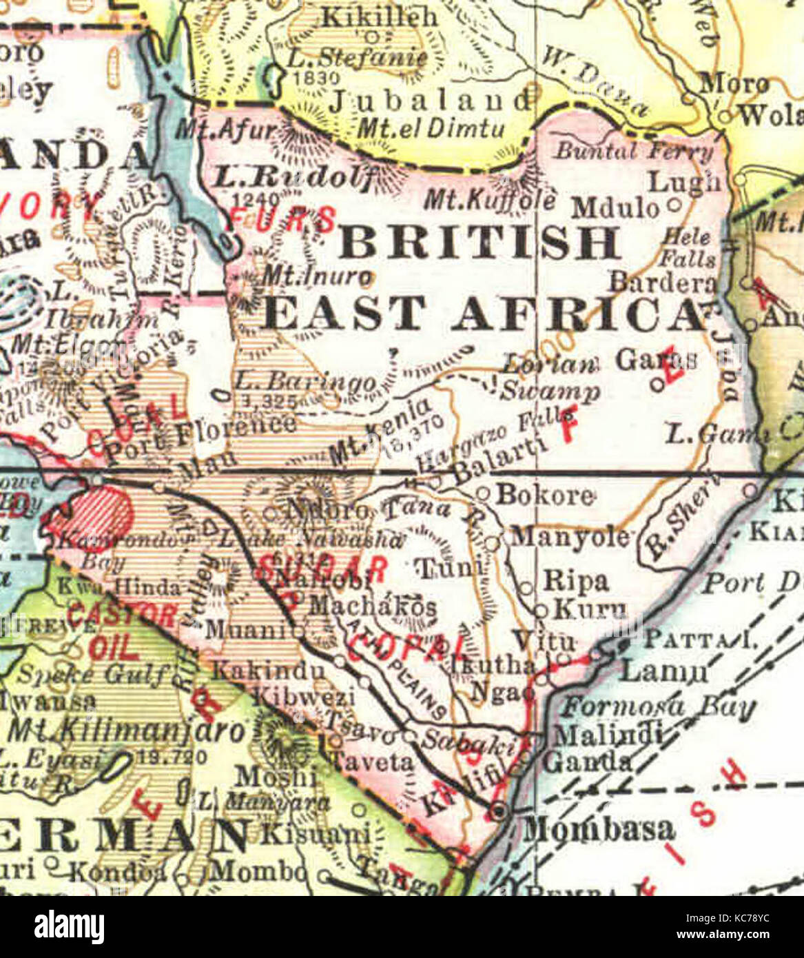 British East Africa In Stock Photo