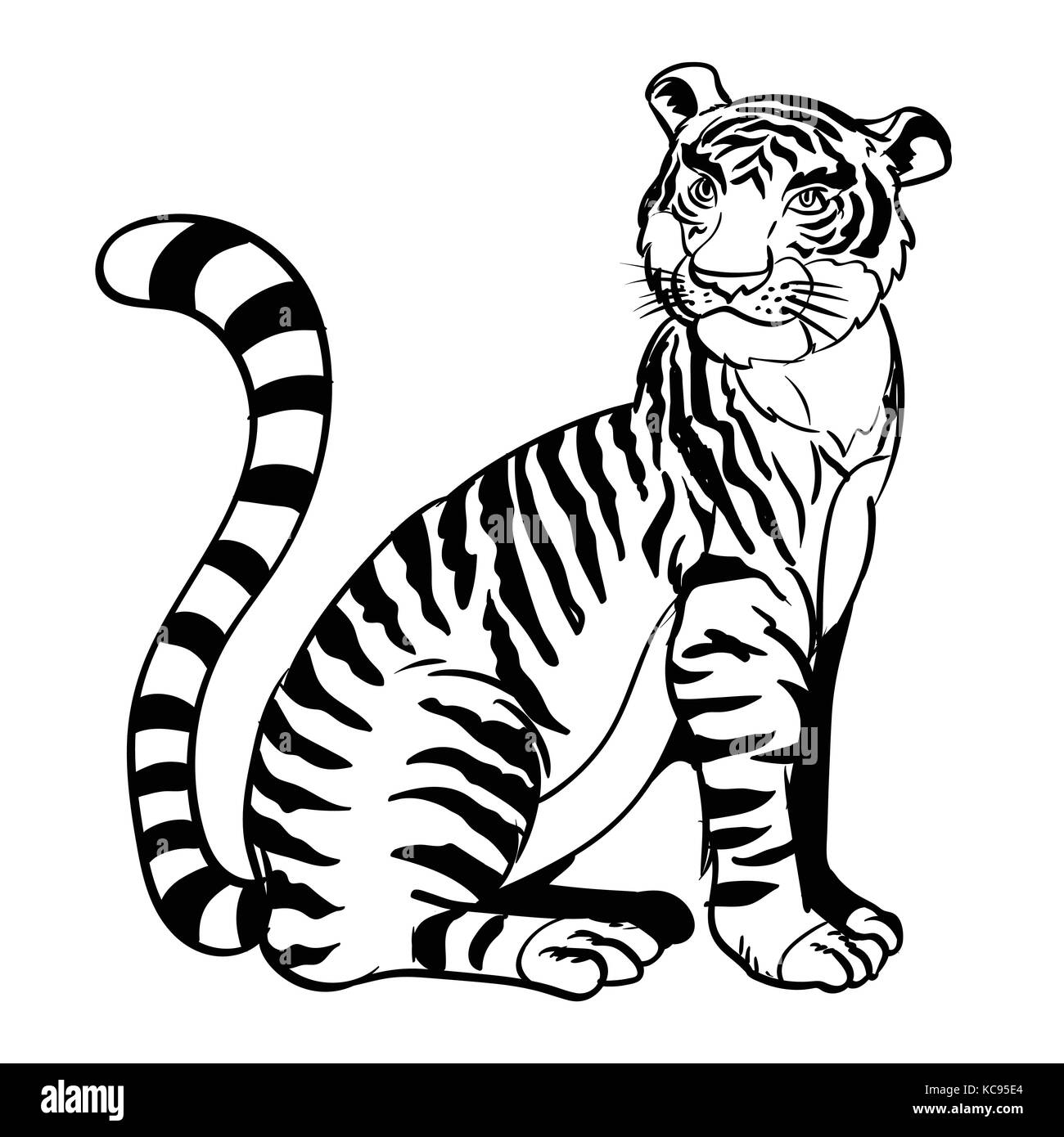 Cute Tiger Animal Character Funny Stock Photos Amp Cute