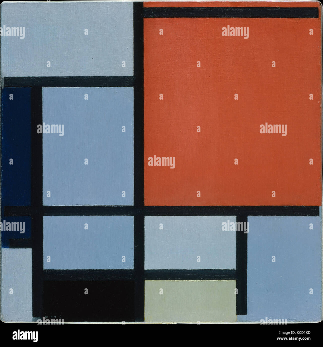 By Piet Mondrian Stock Photos   By Piet Mondrian Stock Images   Alamy Composition  1921  Oil on canvas  19 1 2 x 19 1