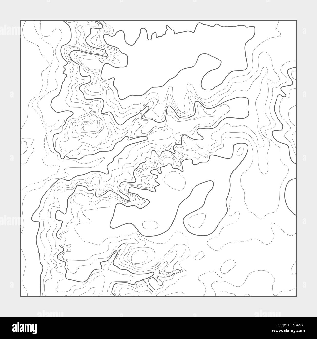 Topographic Map Black And White Stock Photos Amp Images