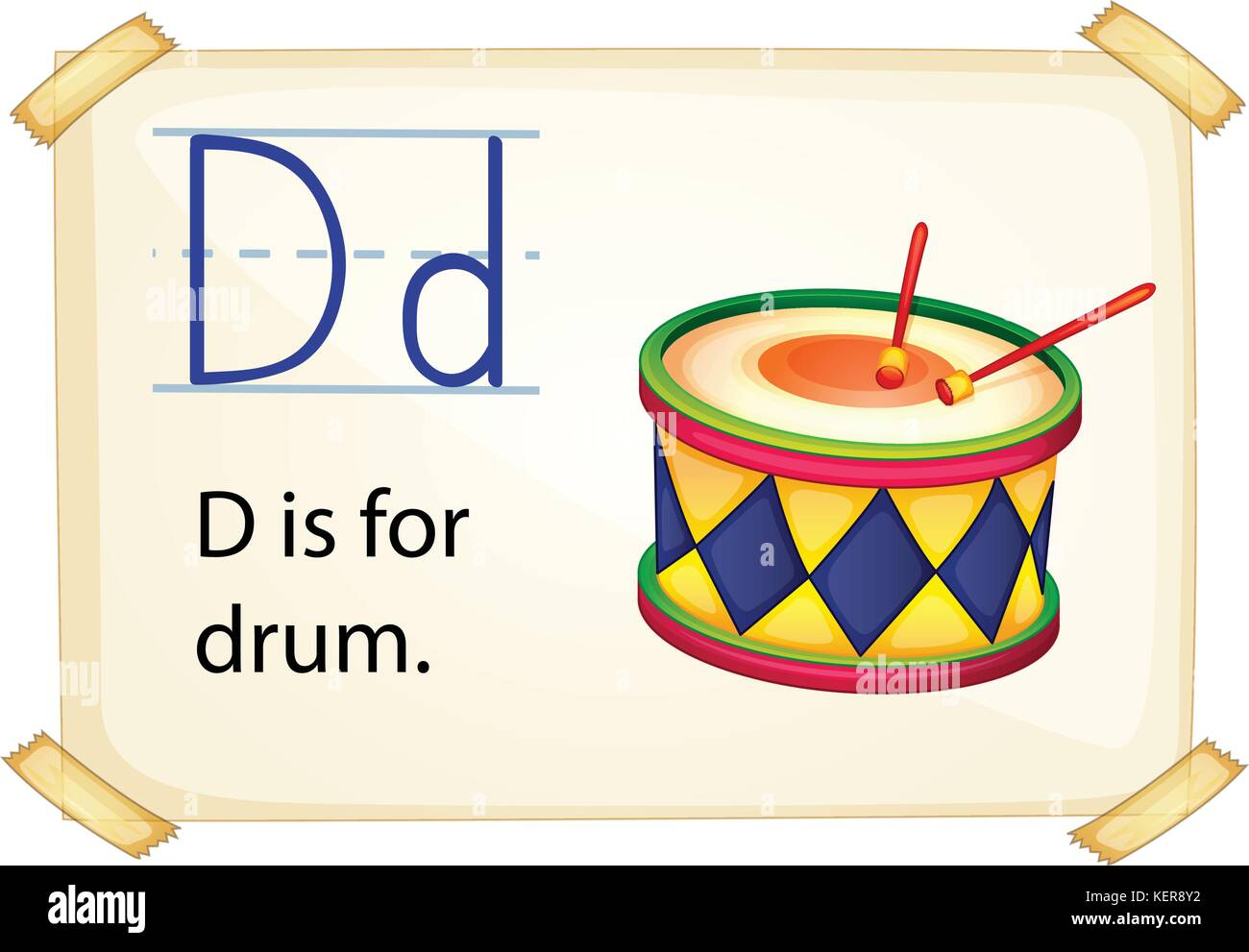 D Is For Drum Stock Vector Images
