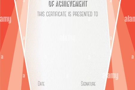 Modern Certificate of Achievement  Vector template Stock Vector Art     Modern Certificate of Achievement  Vector template