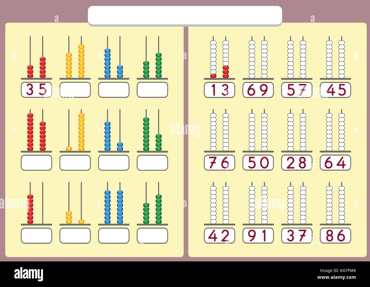 Kids Learn Numbers With Abacus Math Worksheet For