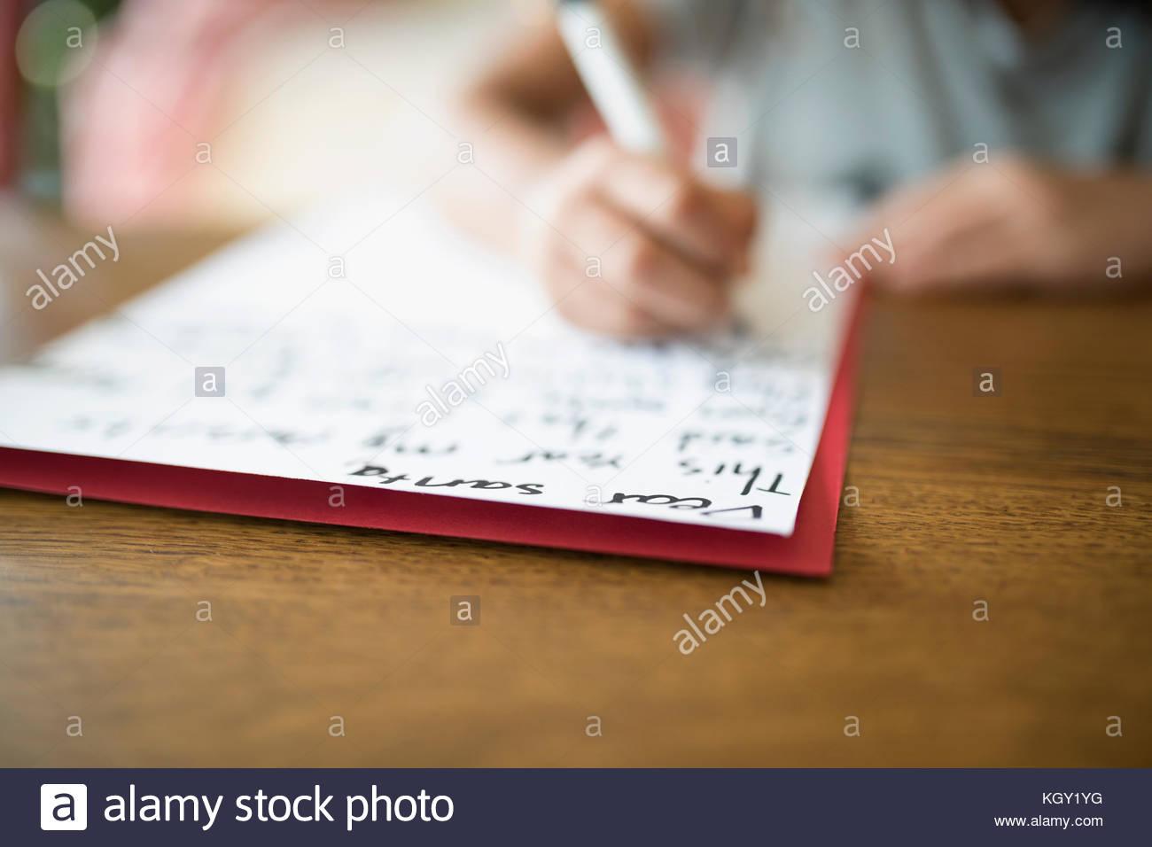 Close Writing A Letter Stock Photos Amp Close Writing A