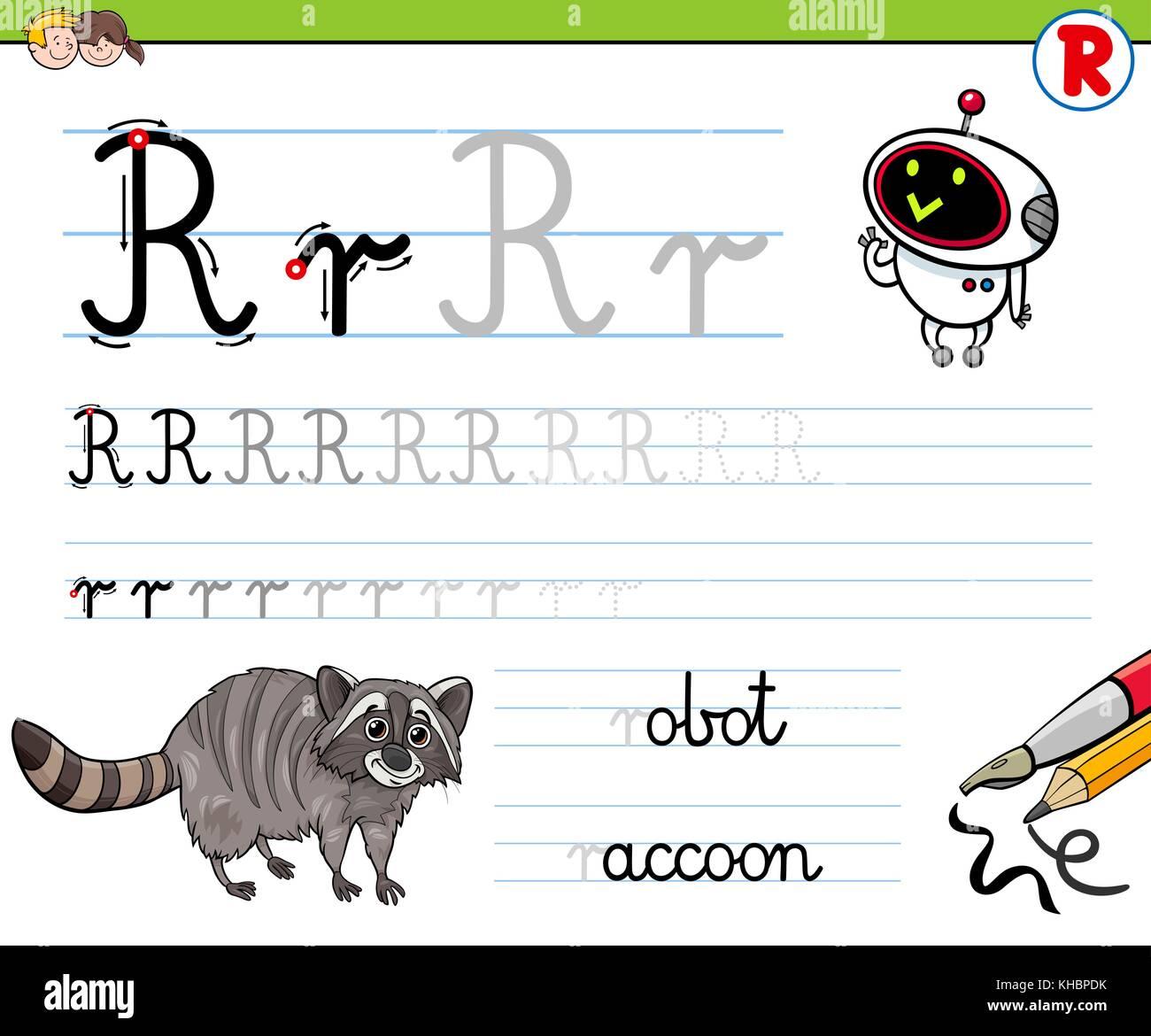 Cartoon Illustration Writing Skills Practice Stock Photos Amp Cartoon Illustration Writing Skills