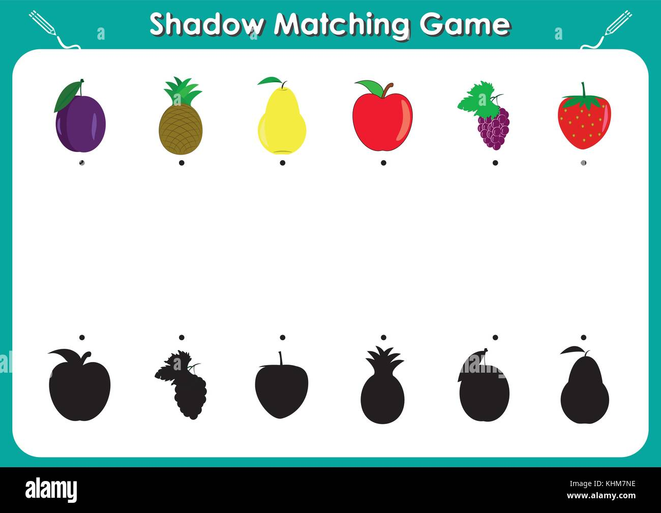 Shadow Matching Game Activity Page For Kids Find The